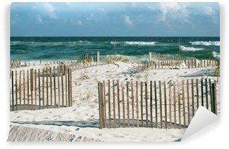 Vinylová Fototapeta Krásná Florida pláž s pískem Ploty a tyrkysové moře