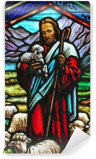Vinylová Fototapeta Krásná Ježíš a jehňata vitráže tisku pojiva. Od St Marie je v horách katolické církve v Nevadě, USA.