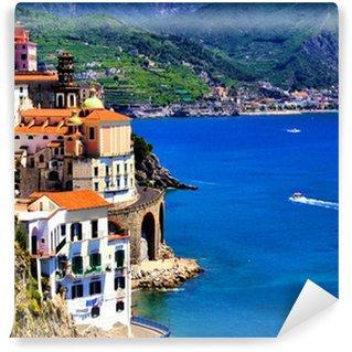 Vinylová Fototapeta Krásná vesnice Atrani podél pobřeží Amalfi, Itálie