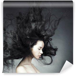 Vinylová Fototapeta Krásná žena s nádherným vlasy