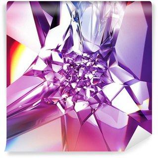 Vinylová Fototapeta Krásné fialové crystal módní pozadí