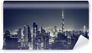 Vinylová Fototapeta Krásné město v noci Dubaj