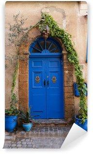 Vinylová Fototapeta Krásné modré dveře v El-Jadida, Maroko