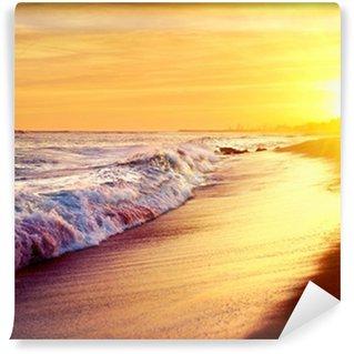 Vinylová Fototapeta Krásné moře Sunset Beach. Středozemní moře. Spai
