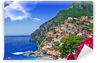 Vinylová Fototapeta Krásné scenérie pobřeží Amalfi v Itálii, Positano.