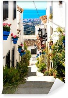 Vinylová Fototapeta Krásné ulice s květinami ve městě Mijas, Španělsko