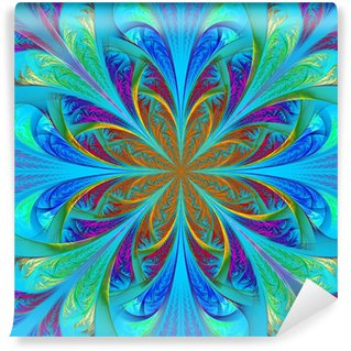 Vinylová Fototapeta Krásné vícebarevný fraktální květina. Počítačem generované grafiky
