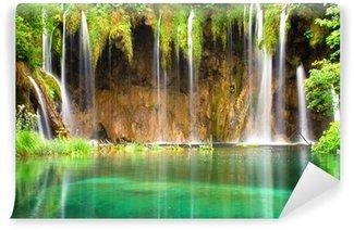 Vinylová Fototapeta Krásné vodopády v národním parku Plitvická jezera