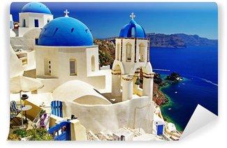 Vinylová Fototapeta Krásný pohled na Santorini Caldera s církvemi