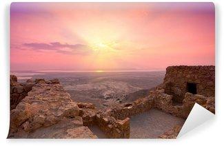 Vinylová Fototapeta Krásný východ slunce nad starověké Masada pevnosti v Izraeli