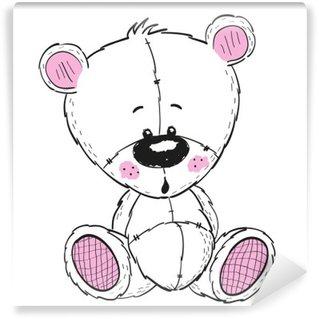 Vinylová Fototapeta Kresba Teddy