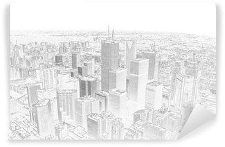 Vinylová Fototapeta Kresba tužkou na panorama města Toronto