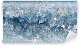Vinylová Fototapeta Krystaly křemene v modrém achátu