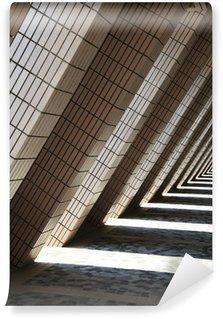 Fototapeta Winylowa Kształcie litery L architektura i cienie Hong Kong Cultural Centre