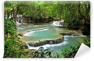 Fototapeta Winylowa Kuang Si Wodospad w Luang Prabang, Laos