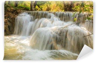 Fototapeta Winylowa Kuang Si Wodospady w Laosie.