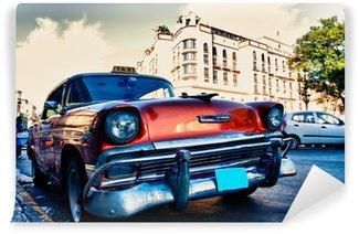 Fototapeta Vinylowa Kubańska stare samochody