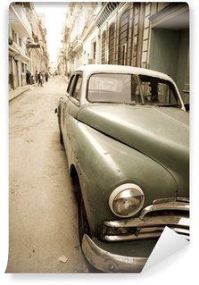 Vinylová Fototapeta Kubánská starožitné auto