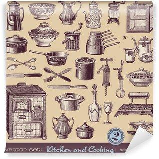 Fototapeta Winylowa Kuchnia i gotowanie (2) - różne zabytkowe ilustracje