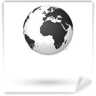 Fototapeta Winylowa Kula, ziemia, kula, kula, ziemia, świat, mapa, świat