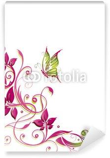 Fototapeta Winylowa Kwiaty, kwiaty, wino, flory, delikatny, zielony, różowy