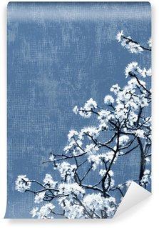Fototapeta Winylowa Kwitnące drzewa w tle