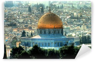 Vinylová Fototapeta La Mešita Al-Aksá avec le Dôme du Rocher Jeruzalém