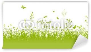 Fototapeta Winylowa Łąka kwiatów, trawa, trawnik, zielony, pole, łąka, lato, wiosna,