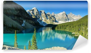 Vinylová Fototapeta Lake Moraine, Banff národní park