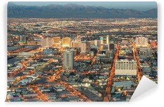 Vinylová Fototapeta Las Vegas Downtown - Letecký pohled na generických budov před sluncem