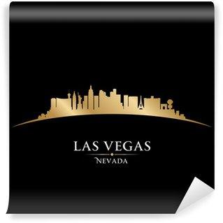 Vinylová Fototapeta Las Vegas Nevada panoráma města silueta černé pozadí