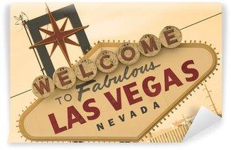 Vinylová Fototapeta Las Vegas Sign Přední sépie