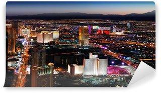 Vinylová Fototapeta Las Vegas skyline at night panorama