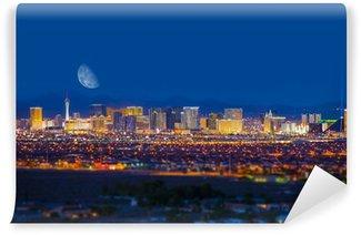 Vinylová Fototapeta Las Vegas Strip a Měsíc