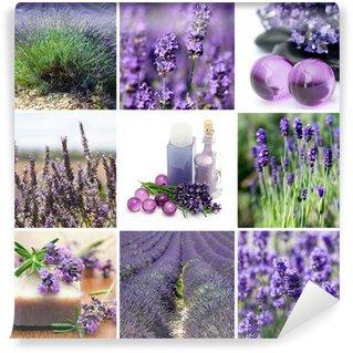 Vinylová Fototapeta Lavender koláž s devíti fotografií