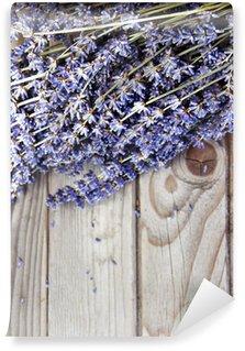 Vinylová Fototapeta Lavender květiny na dřevěné pozadí