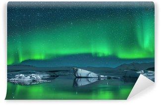 Vinylová Fototapeta Ledovce pod Northern Lights