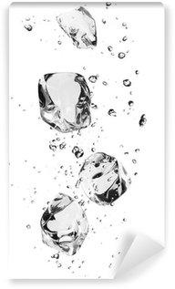 Vinylová Fototapeta Ledové kostky s bublinkami, izolovaných na bílém pozadí