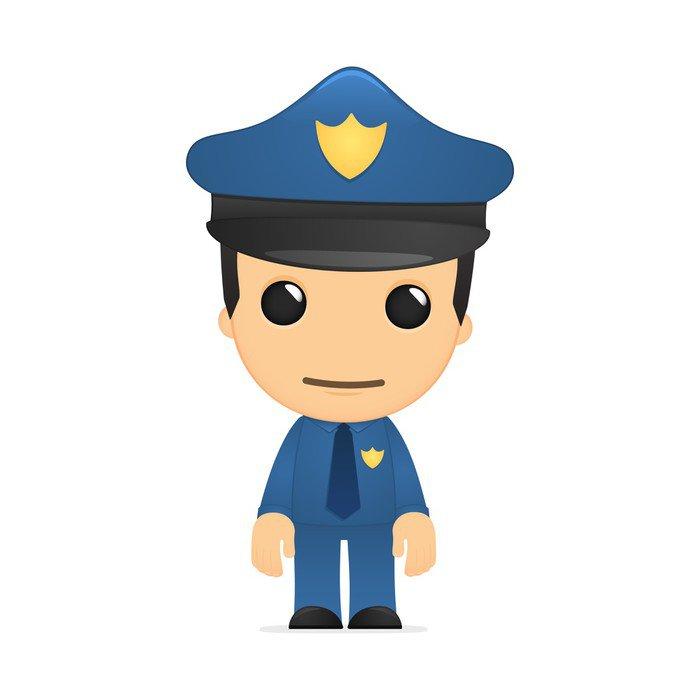 Výsledek obrázku pro policista kreslený