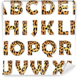Vinylová Fototapeta Leopard abeceda vektor pack