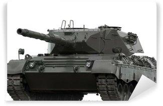 Vinylová Fototapeta Leopard Vojenské Tank na bílém