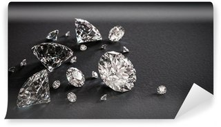 Vinylová Fototapeta Lesklé diamanty na černém pozadí