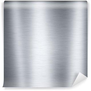 Vinylová Fototapeta Leštěný hliník kovová deska, užitečné pro pozadí