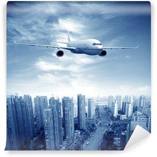 Vinylová Fototapeta Letadla na obloze v Šanghaji