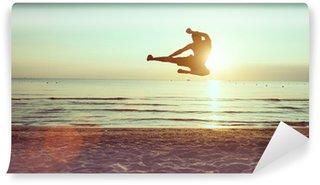 Vinylová Fototapeta Létání kop na pláži
