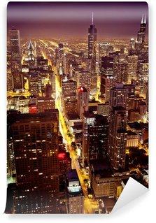 Vinylová Fototapeta Letecký pohled na centrální Chicago
