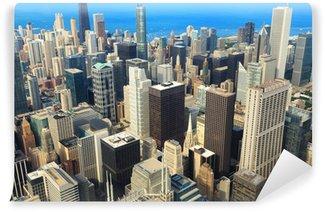 Vinylová Fototapeta Letecký pohled na Downtown Chicago