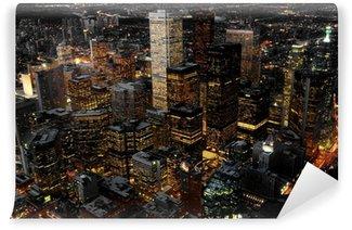 Vinylová Fototapeta Letecký pohled na Toronto, Kanada v noci