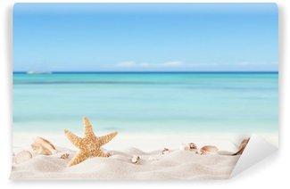 Vinylová Fototapeta Letní pláž s strafish a mušlí
