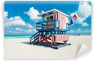 Vinylová Fototapeta Lifeguard Hut Jižní Beach- Miami